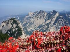 Sur les pentes du mont Hua en Chine