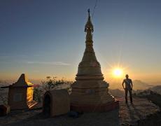 Birmanie: dormir au monastère du Mont Zwekabin